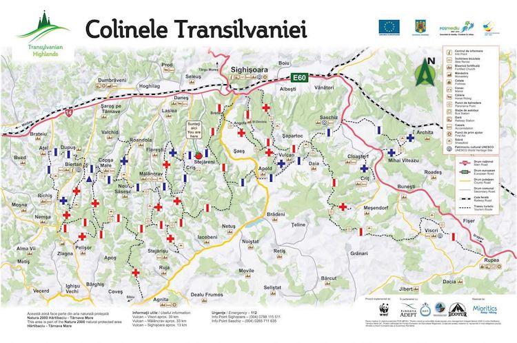 Colinele Transilvaniei Card