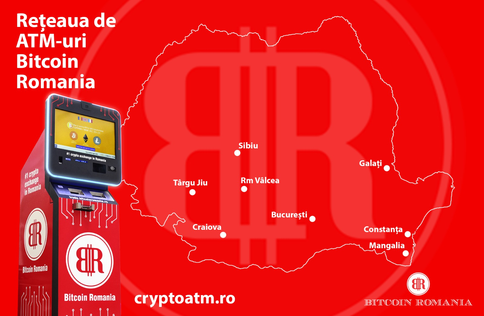 Bitcoin Romania ATMs
