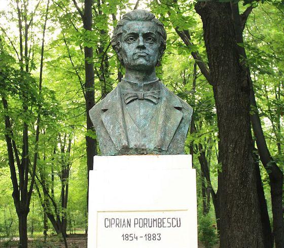 Ciprian Porumbescu statue
