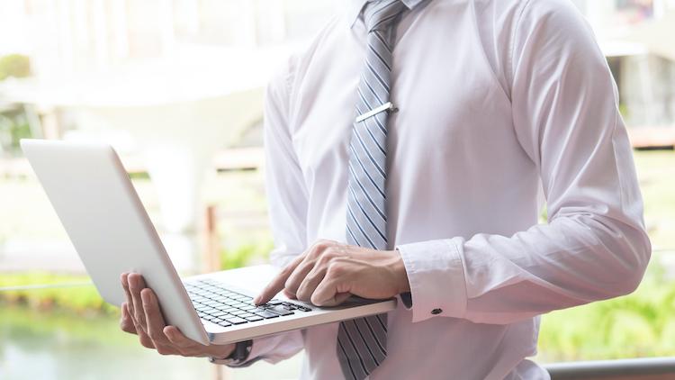 businessman laptop