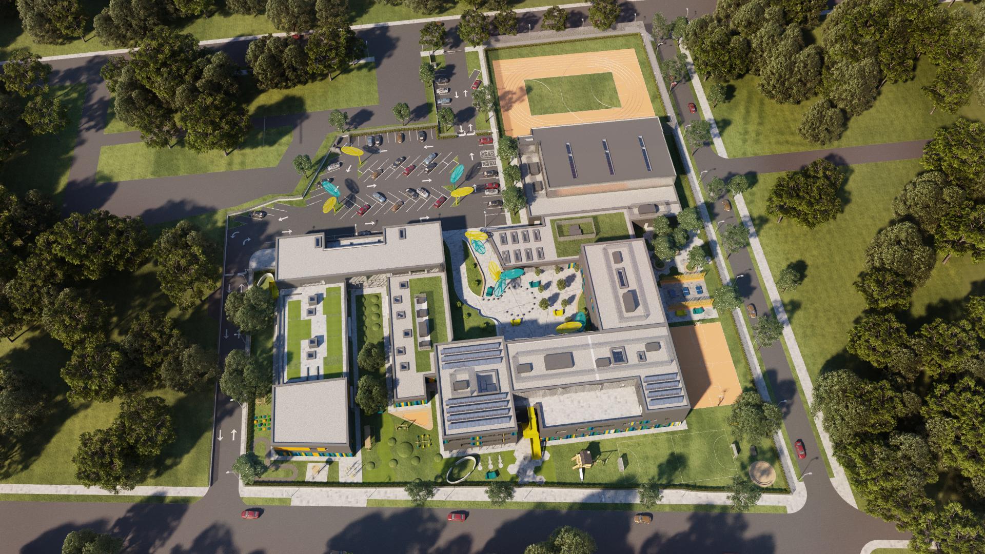 DSBU - new school from above